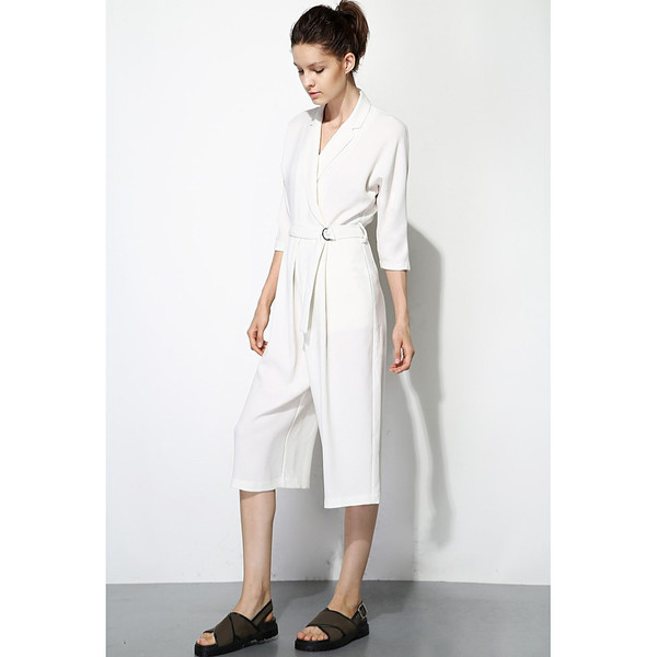 FEW MODA Minimalist Belted Jumpsuit