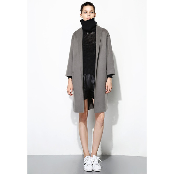 FEW MODA Oversized Structured Wool Coat