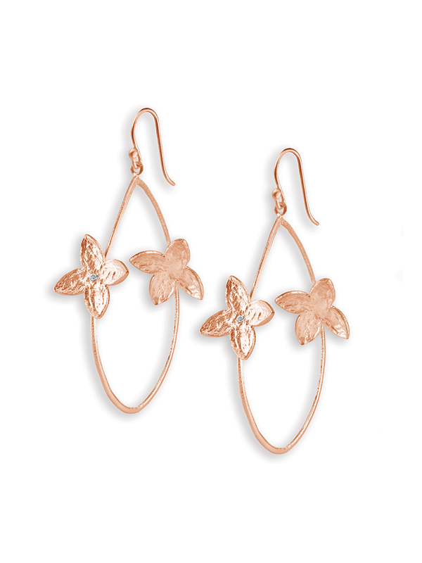 SíSí Design Rose Gold Double Jasmine Hoops