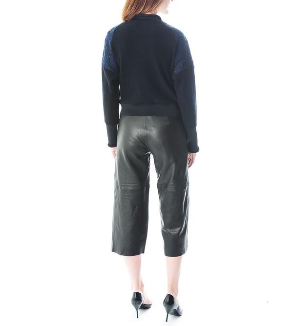 3.1 Phillip Lim Charmeuse Sweatshirt w Utility Strap