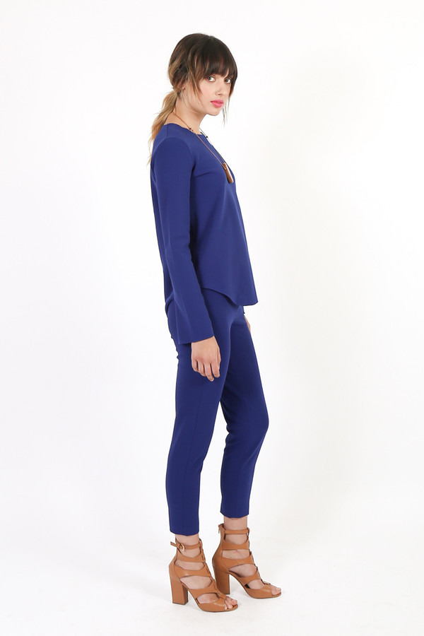 Nanushka Siv Long Sleeve Bell Top