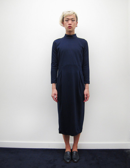Suzanne Rae Mock Neck Long Sleeve Cocoon Dress