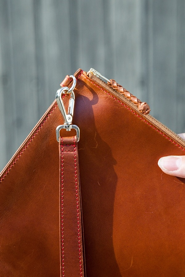 Creatures of Comfort Leather Pouch | whiskey