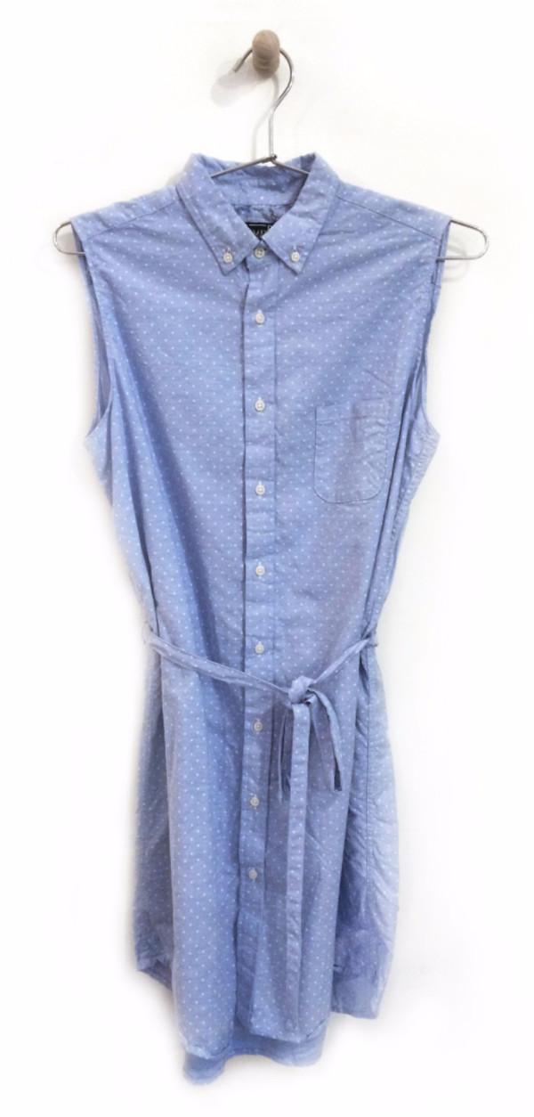 Gitman Bros. Sleeveless Polka Dot Dress