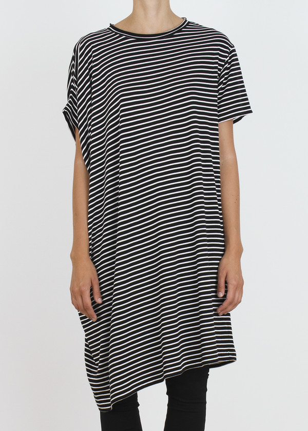 Unisex complexgeometries ebb tunic | b&w stripe