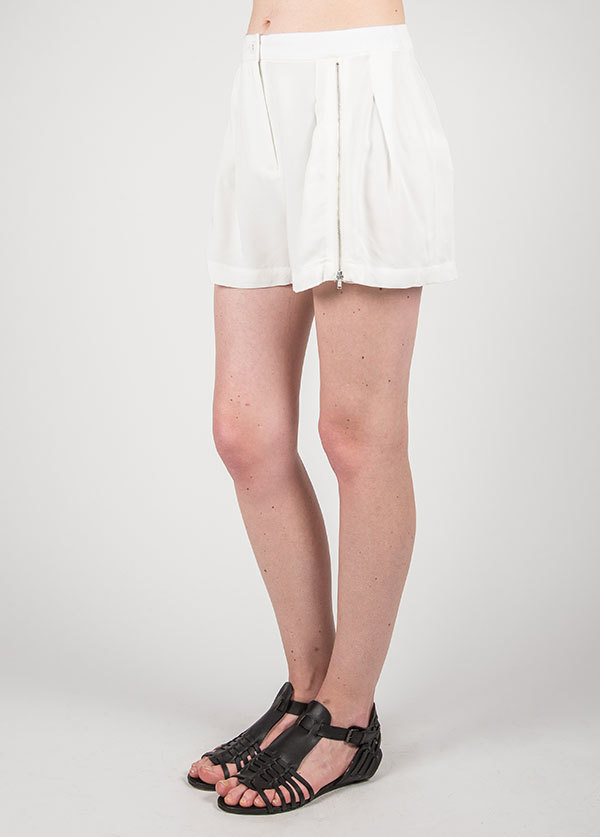 Something Else Zippered Front Short