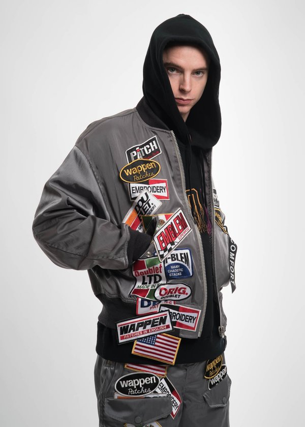 Doublet Grey Chaos Patches Bomber