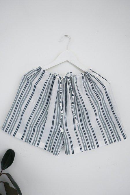 Karu Striped Cotton Silk Sleep Shorts