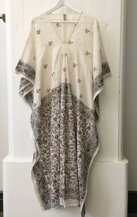 Two White Kantha Caftan
