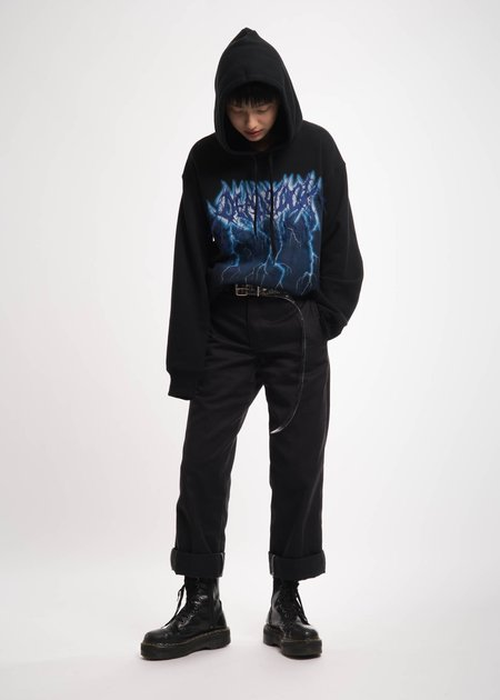 Doublet Black Deadstock Embroidery Hoodie
