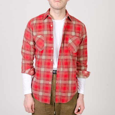 Unis New York Vintage Cotton Flannel Shirt - Red