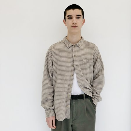 Johan Vintage Plaid Woven Button Down
