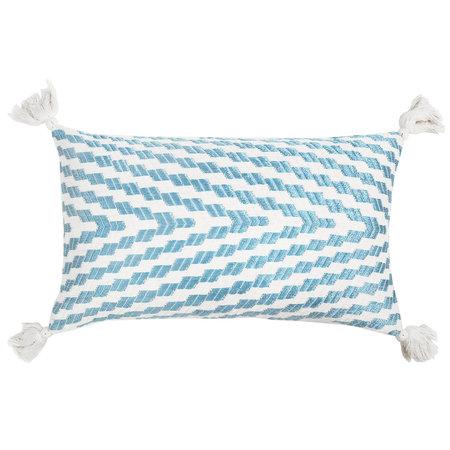 Archive New York Almolonga Blue Silk Pillow