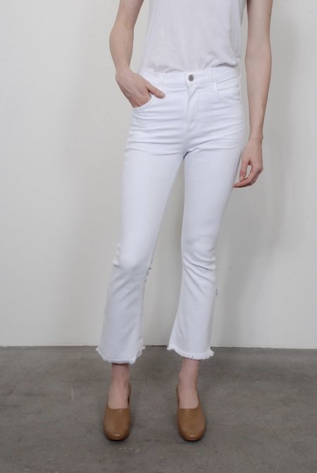Citizens of Humanity Drew Fray High Rise Crop Flare - Optic White