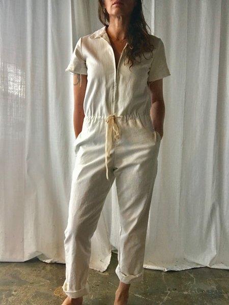 Nahanni Arntzen Menlo white denim jumpsuit