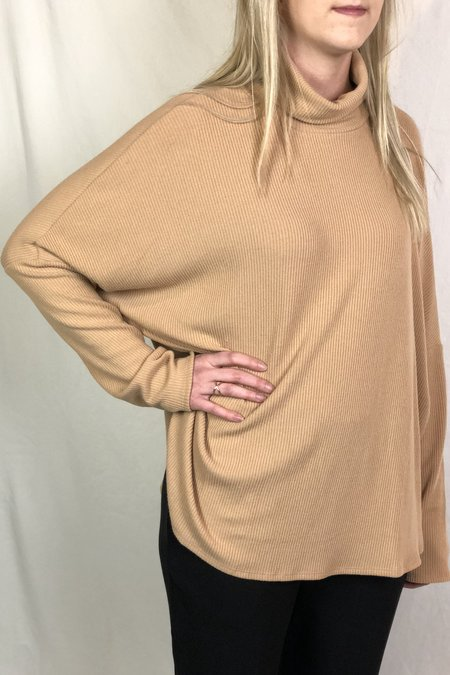 Heather Annie Rib Turtleneck