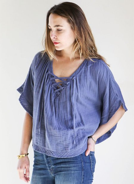 Xirena Roxy Top in Faded Navy