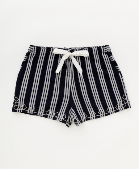Lemlem Edna Embroidered Short in Navy