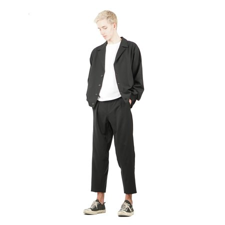 SECOND / LAYER Notch Bomber Jacket - Black