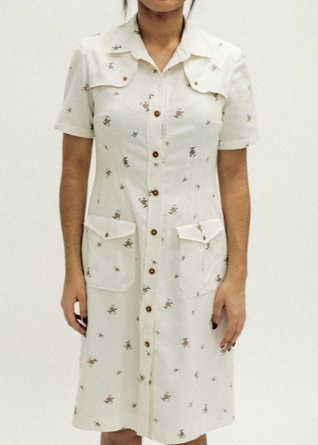 Pre by New Classics Vintage Collared Button Up Dress
