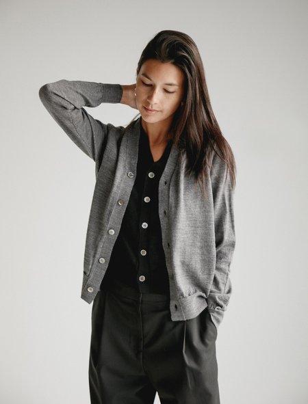 Comme des Garcons Double Cardigan - Grey/Black
