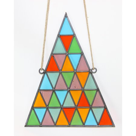 David Scheid Large Stained Glass Triangle