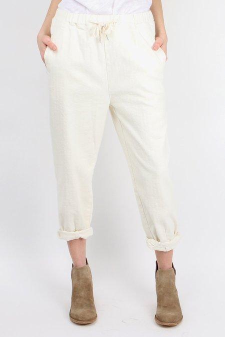a.mannna Drawstring Pullup Pant - WHITE