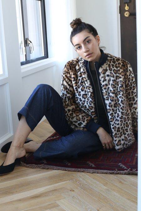 Ganni Ferris Faux Fur Jacket