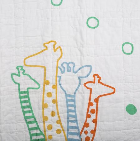 Kids Lil' Pyar Giraffe Tej Baby Quilt - Green