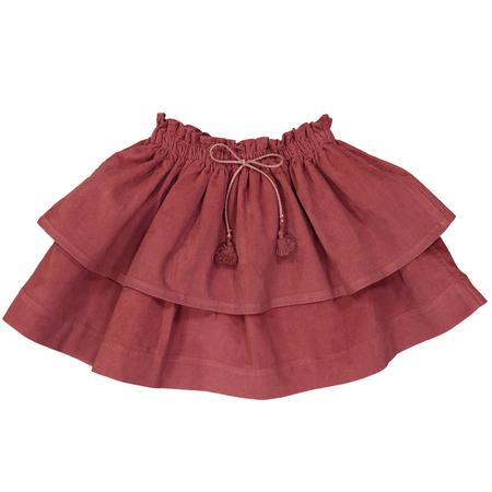 Kid's Petite Lucette Sophie Skirt - Cedar Wood Corduroy