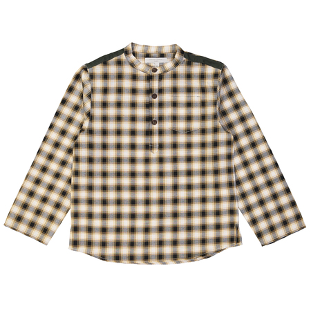 Kid's Petite Lucette Amedee Shirt - Yellow/Black Plaid