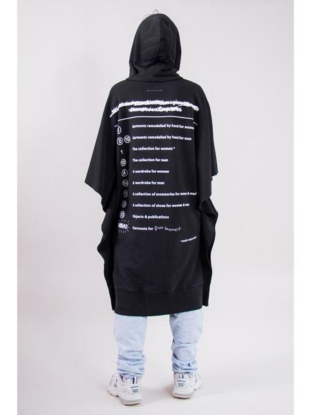 Maison Margiela MM6 Oversized Atelier Sweatshirt - Black