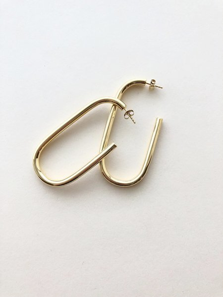 Machete Formal Maya Earrings in 14K Gold