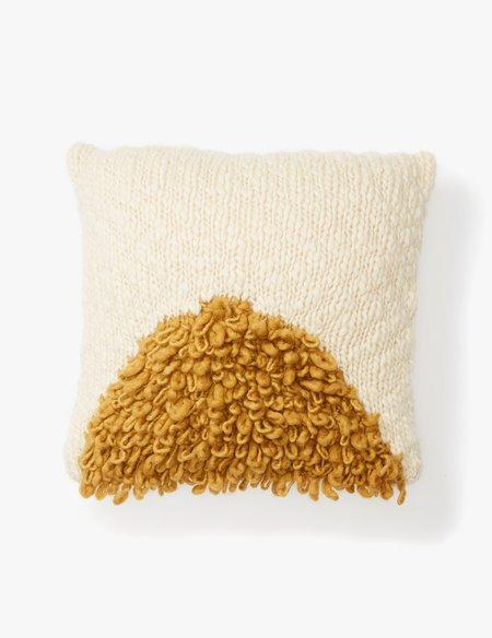Minna Gold Moon Shag Pillow