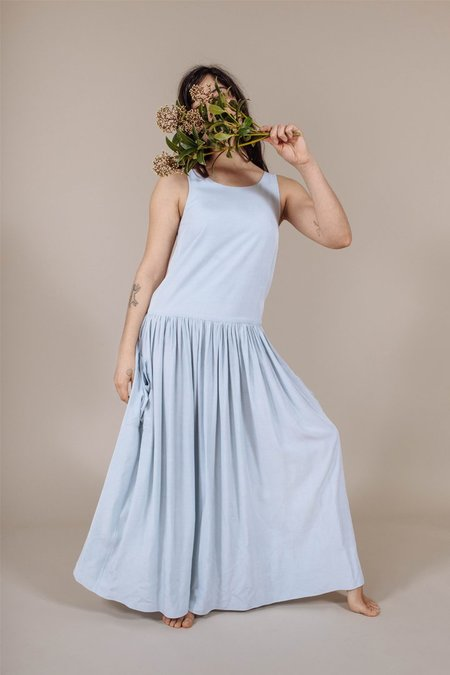 PLANTE Lotus Dress in Pale Sky