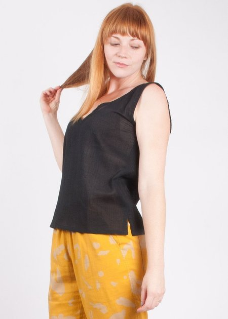 Gravel & Gold Corylus Top - Black