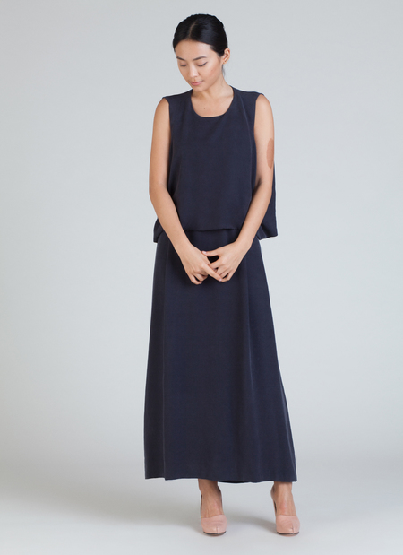 Kaarem Jellyfish Shell Back Long Dress - Black