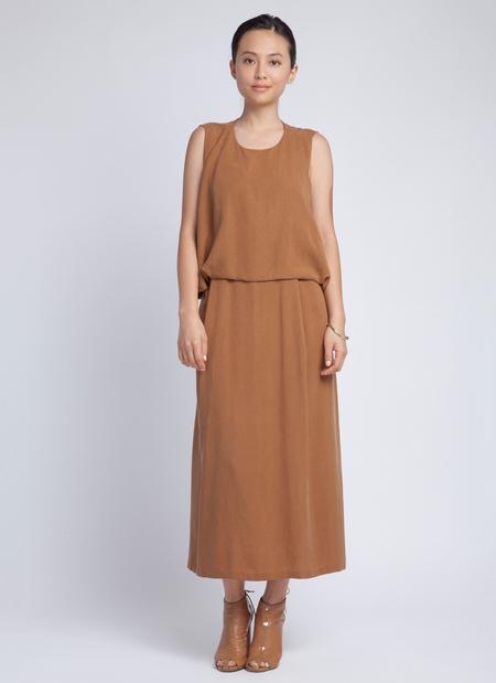 Kaarem Jellyfish Shell Back Long Dress - Copper