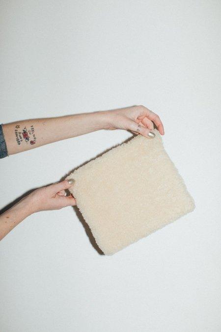Laura Schoorl Small Sheep Clutch - Cream