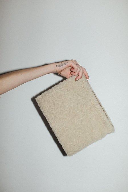 Laura Schoorl Medium Sheep Clutch - Beige