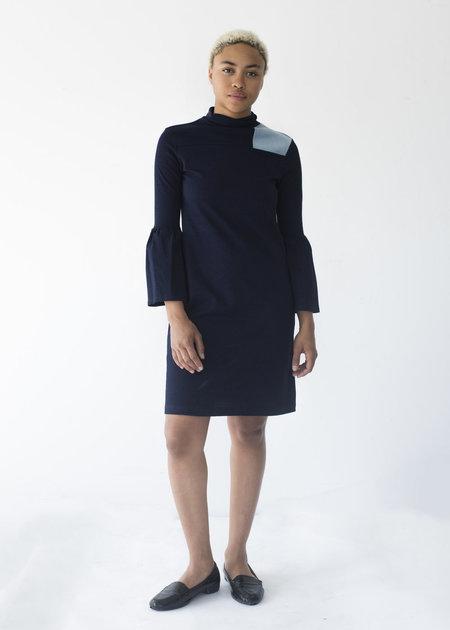 Selva Negra Rosalyn Dress In Indigo Knit
