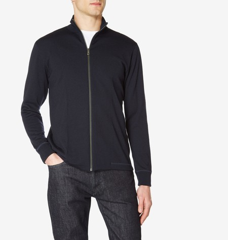 Sunspel Vintage Wool Zip Jacket