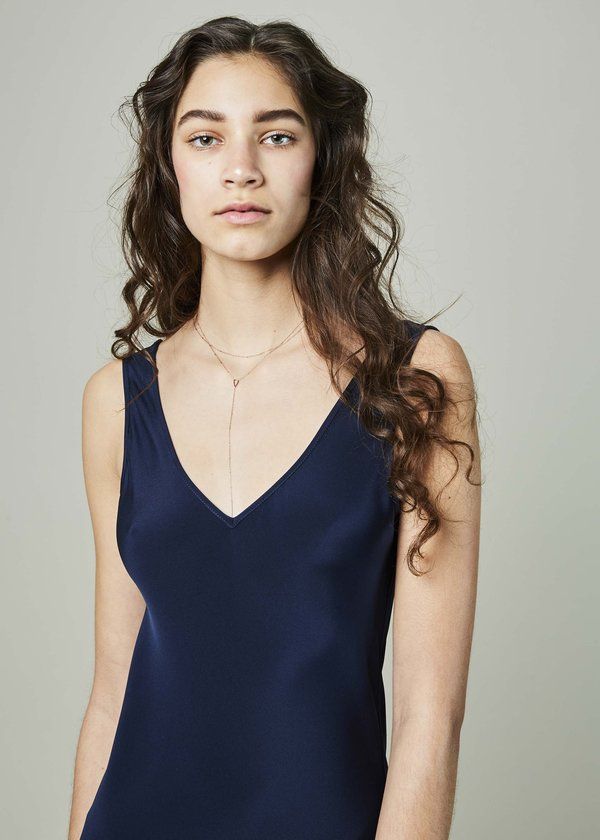 VOZ Double V Slip Dress