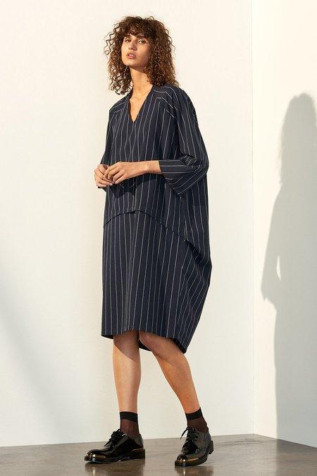 Kowtow Time Dress - Pinstripe