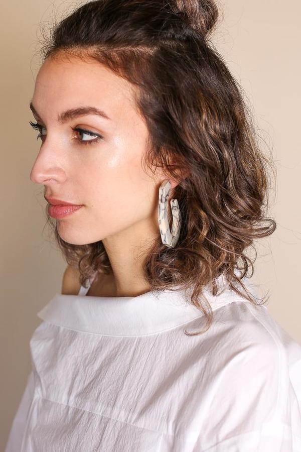 Rachel Comey Factor Earring - White Marble