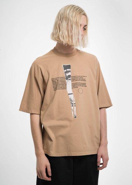Komakino Beige T Cut T-Shirt w/ Print 6