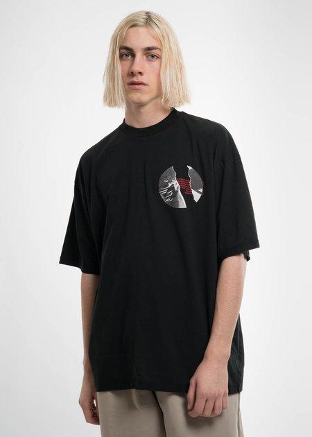 Komakino Black Cuts T-Shirt w/ Print 2 Hands