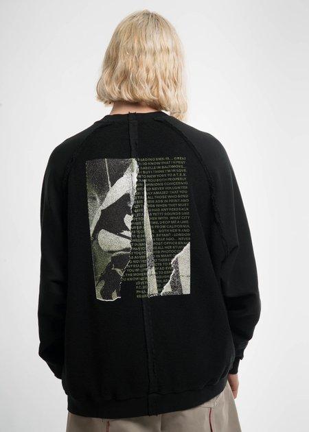 Komakino Black Inside-Out Raglan Sweatshirt