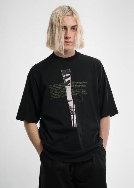 Komakino Black T Cut T-Shirt w/ Print 6