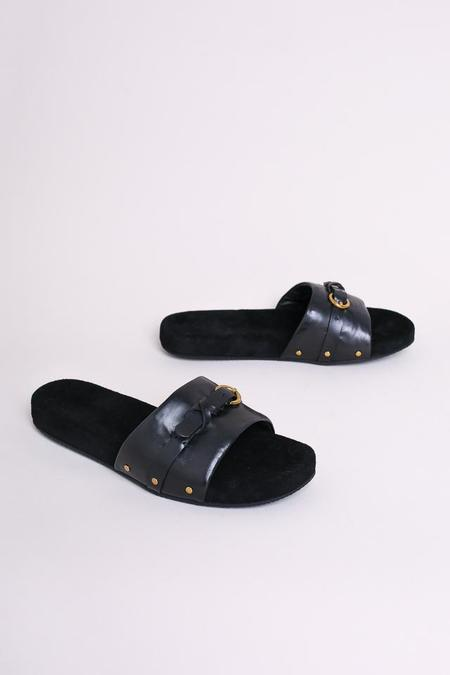 Jerome Dreyfuss Angela Slip On Sandal in Noir